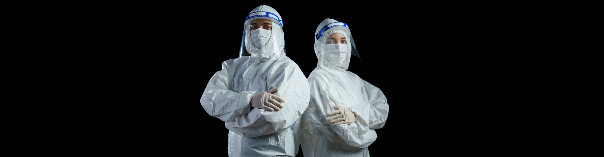 Doctor wearing ppe suit and face mask and face shield in hospital, Corona virus, Covid-19 virus outbreak concept.