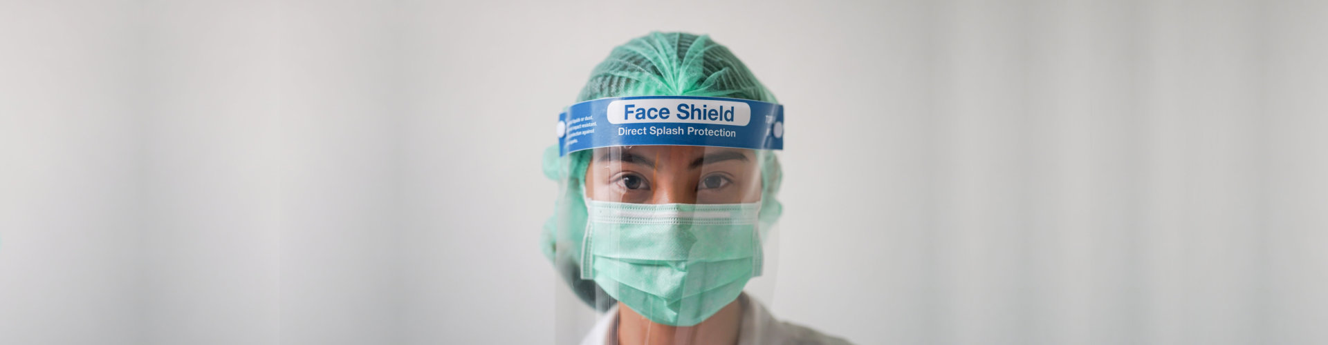 Head shot image of Medical staff wearing Personal Protective Equipment (PPE) suit for protect the novel coronavirus pandemic(COVID-19)