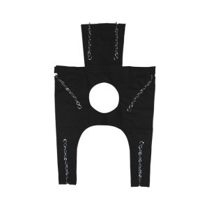Bariatric chains sling w/head support and commode