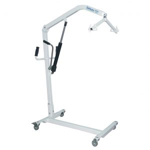 """Hydraulic patient lifter with fixed """"C"""" style base"""