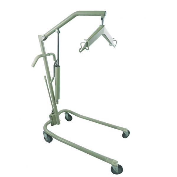 Economy hydraulic patient lifter with adjustable base