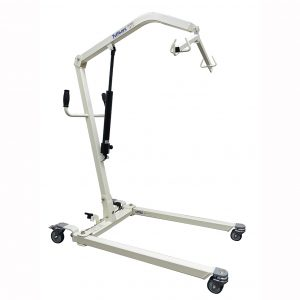 Hydraulic patient lifter with adjustable base
