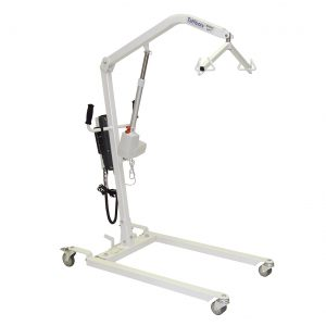 Heavy duty electric patient lifter with adjustable base